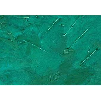 LAST FEW - 5g Green Fluffy Feathers for Crafts