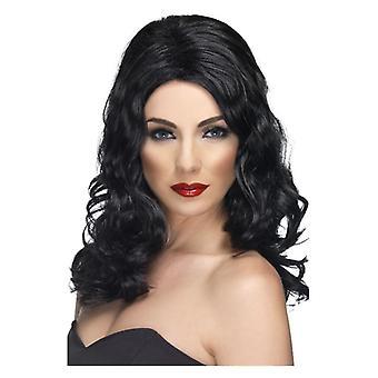 شعر مستعار براقة المرأة السوداء ملابس تنكرية التبعي