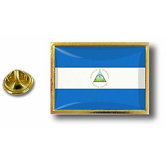 Pine PineS Badge Pin-apos;s Metal With Butterfly Ball Flag Nicaragua