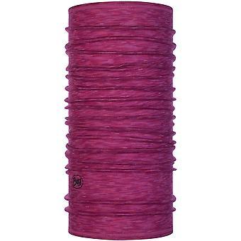 Buff Lightweight Wool Buff Neck Warmer in Raspberry Multi Stripes