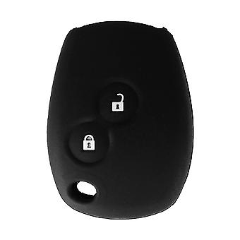 Silicone 2 buttons car key case Renault black