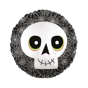 Anagram 18 Inch Skull Circle Foil Balloon