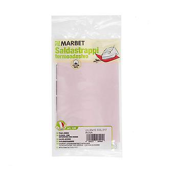 Marbet MB120.017 | Travaux de réparation tissu de coton | Fer-sur | 40 x 15cm | Rose