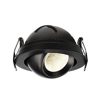 LED inbouw plafond lamp Bellatrix 9W 3000 K 40 ° draaibaar en zwenkbaar dimbaar zwart IP20