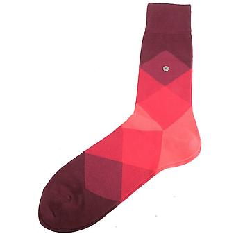 Burlington Clyde Socks - Burgundy/Red