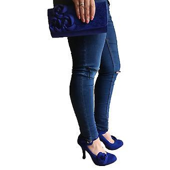 Ruby Shoo Mujeres's Cobalto Azul Milán Encaje Bolsa