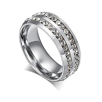 18k white-gold plated esmee ring