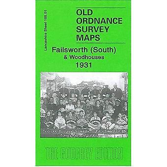 Failsworth (South) and Woodhouses 1931: Lancashire Sheet 105.01 (Old Ordnance Survey Maps of Lancashire)