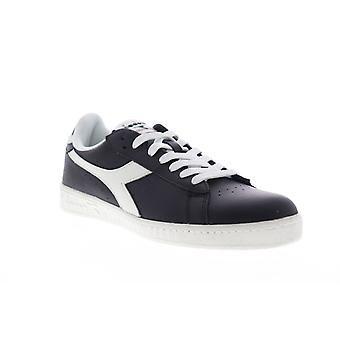 Diadora Game L Low  Mens Black Leather Low Top Sneakers Shoes
