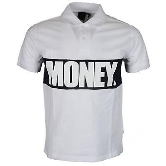 Money Clothing Block Ss Printed Logo White Polo