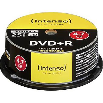 Intenso 4811154 tom DVD + R 4,7 GB 25 PC (er) spindel utskriftsvennlig