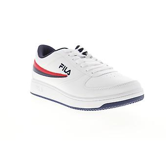 Fila A Low  Mens White Lace Up Lifestyle Sneakers Shoes