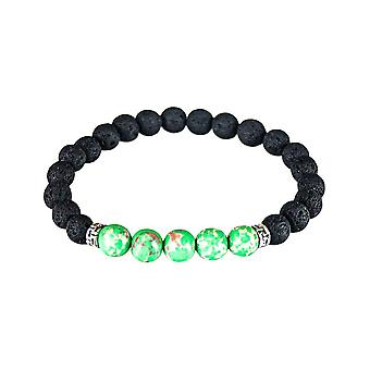 Bracelet with volcanic stone - Green