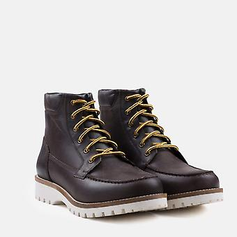 Chipp brown leather moc toe boot