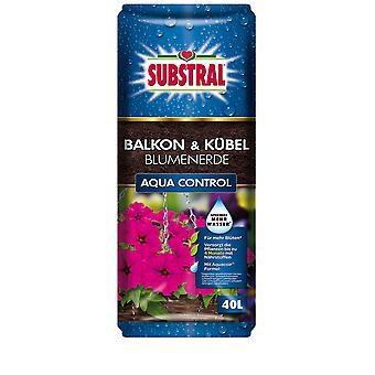 SUBSTRAL® Balcony & Bucket-flower-earth Aqua Control, 40 litres