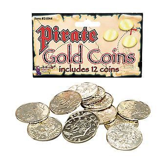 Bristol Novelty Fake Pirate Coins (Pack Of 12)
