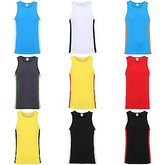 AWDis Just Cool Mens Contrast Panel Sports Vest Top
