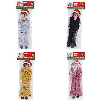 Kerstwinkel Elfen Behavin slecht Sequin Celebrity outfit voor elf pop