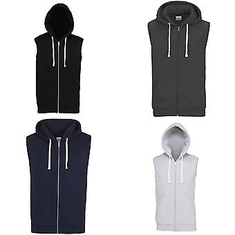 AWDis Just Hoods Mens Sleeveless Hoodie Jacket