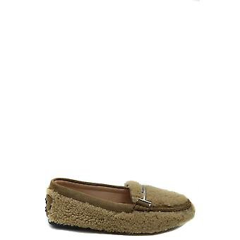 Tod's Ezbc025105 Women's Beige Wool Loafers