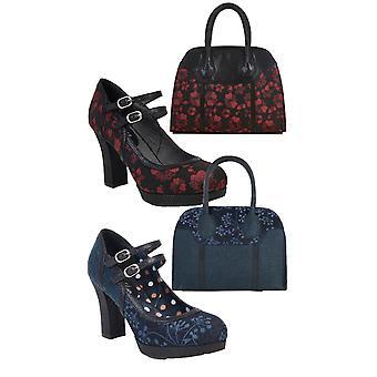 Ruby Shoo naiset ' s Laura paksu Mary Jane Baari kengät & matching Cancun laukku