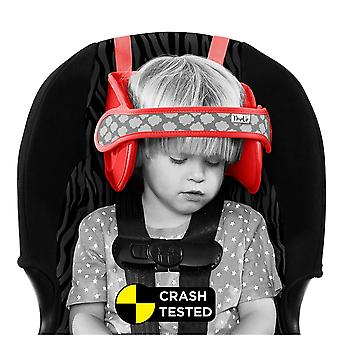 Napup child head support: sleep comfortably on the go (red)