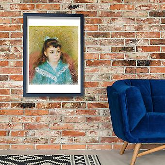 Pierre Auguste Renoir - Portrait of a Young Girl Poster Print Giclee