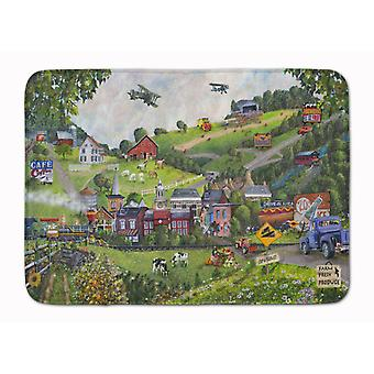 Summer in Small Town USA Machine Washable Memory Foam Mat