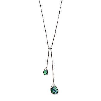 Fiorelli Silver & Abalone Pebble Necklace