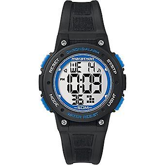 Timex TW5K84800 wrist watch, digital Dial resin band, black/blue