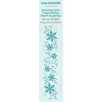 LeCrea - Border embossing folder Snowflakes 35.2670 24x128mm