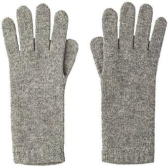 Johnstons of Elgin Short Cuff Cashmere Gloves - Silver