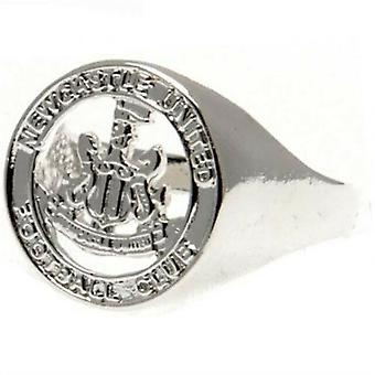 Newcastle United FC Silver Plated Crest Ring