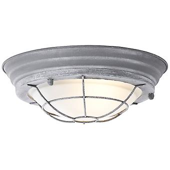 BRILLIANT Lamp Typhoon Wall and Ceiling Lamp 29cm Ring Grey Concrete/White | 1x A60, E27, 30W, suitable for normal lamps (not included) | Scale A++ to E | Suitable for LED bulbs