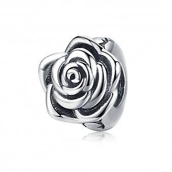 Sterling Silver Charm Rose Flower Bud - 6033