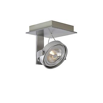 Lucide Spectrum Modern Square Aluminum Satin Chrome Ceiling Spot Light