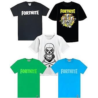 Fortnite Official Logo Boys T-Shirt's Kids Battle Royale Gaming Tee