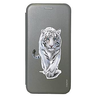 Case For Samsung Galaxy S20 Grey White Tiger Pattern