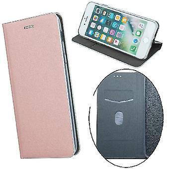 Huawei Y6 (2019) - Smart Venus flip case mobiililompakko -vaaleanpunainen kulta
