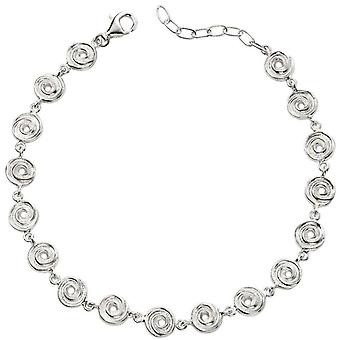 Beginnings Textured Swirl Disc Bracelet - Silver
