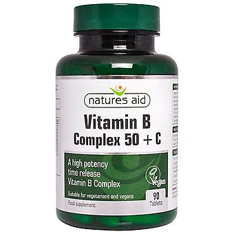 Nature's Aid Vitamin B Complex 50 with Vit C Tablets 90 (12820)