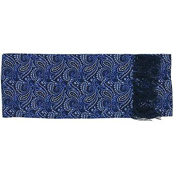 Michelsons of London All Over Paisley Silk Scarf - Blue