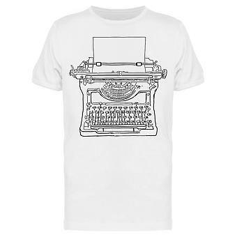 Hand Sketched Vintage Typewriter Tee Men's -Image by Shutterstock