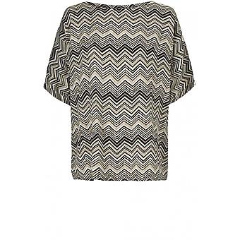 Masai Clothing Dasha Zig Zag Print Top