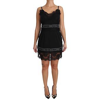 דולצ ' ה & גבאנה שחור תחרה המלכה למתוח מיני שמלה DR1601-44