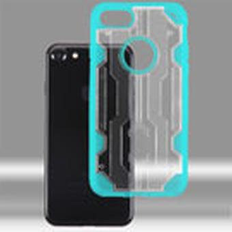 Boîtier hybride Asmyna Chali pour iPhone SE2/8/7 - Transparent Clear/Transparent Light Blue