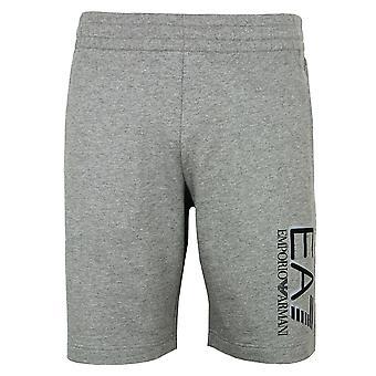 Ea7 emporio armani men's medium grey melange shorts
