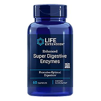 Life Extension Enhanced Super Digestive Enzymes with Probiotics 60 Veggie Capsules