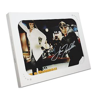 John Travolta Signed Pulp Fiction Poster: The Dance. In Gift Box