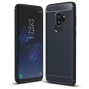 ShockProof Luxury TPU Rugged Carbon Case Cover voor Samsung Galaxy S9 & S9 Plus